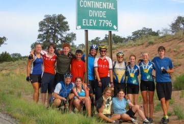 Apogee Adventures teen bike trip across America, crossing the Continental Divide