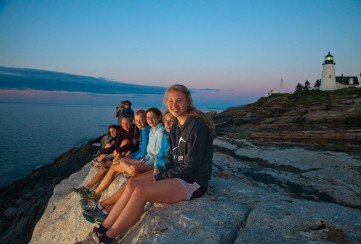 Apogee Adventures teen bike trip Maine Coast