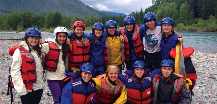 Apogee Adventures teen bike trip rafting in Montana
