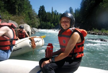 Apogee Adventures rafting the Sauk River in Washington