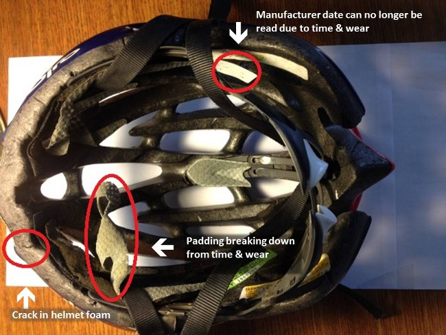 If the helmet your son or daughter owns has any of these issues, time to get a new one!