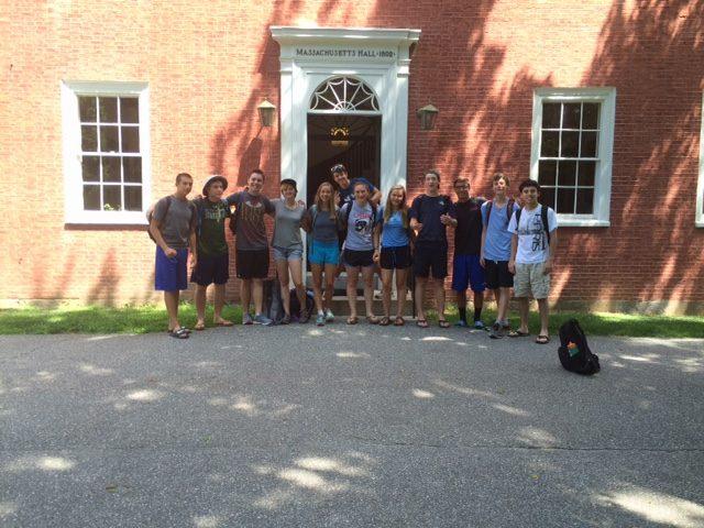 MCCE outside Massachusetts Hall