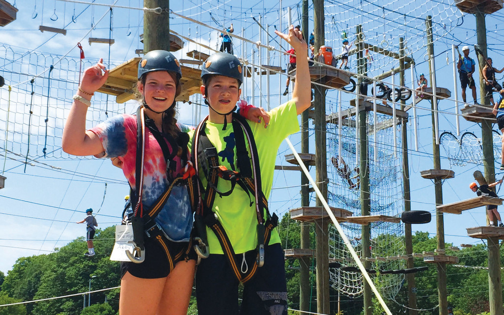 Ropes Course & Rafting the Androscoggin